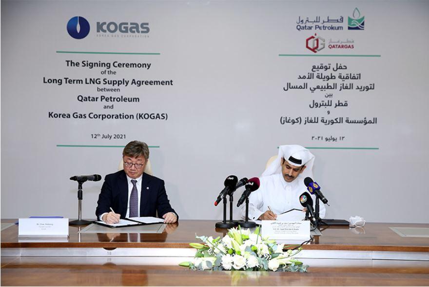 Qatar Petroleum and KOGAS sign 20-year SPA